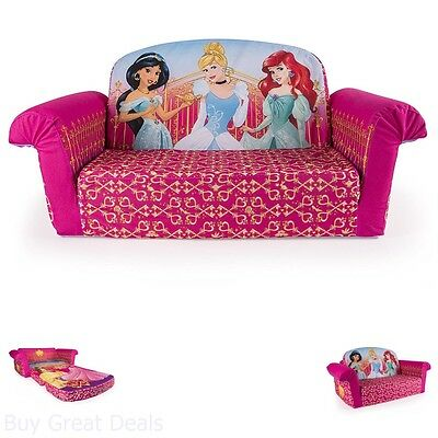 Marvelous Kids Flip Sofa Open Bed Pink Disney Princess Toddler Onthecornerstone Fun Painted Chair Ideas Images Onthecornerstoneorg