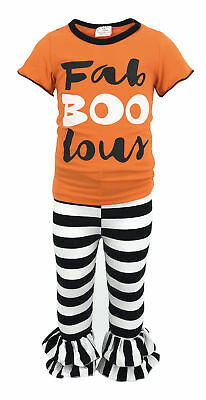 Girls Halloween Outfit Boutique Toddler Kids Clothes Top Pants US Set Leggings