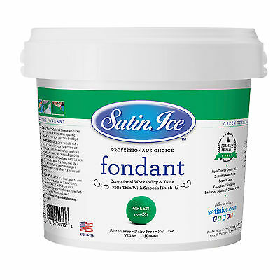 Satin Ice Rolled Fondant Icing Green 5 Pounds