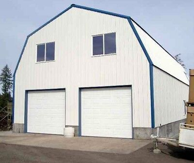 GAMBREL GARAGE SHOP HOME STEEL BUILDING 2nd FLOOR -All METAL