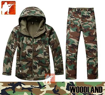 WOODLAND Jungle Softshell Waterproof Fleece Jacket Pants TAD Hunting~~