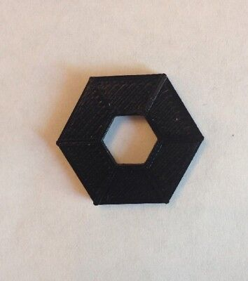 Replacement/Substitute Hex Token Ring Fireball Island Game Black TWO-SIDED Parts