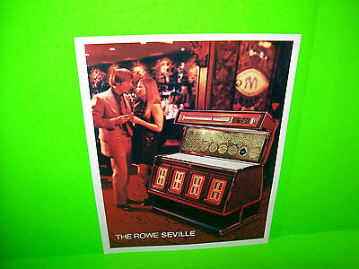 Rowe AMI Model TI-1 SEVILLE Original 1973 Phonograph Jukebox Music Sales FLYER