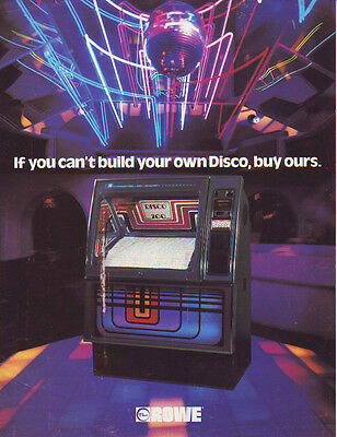 Rowe Disco 200 Original Coin Op Advertising Jukebox Sales Flyer Brochure 1979