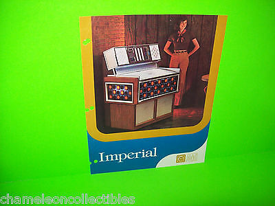IMPERIAL By ROWE AMI 1976 ORIGINAL JUKEBOX PHONOGRAPH PROMO SALES FLYER
