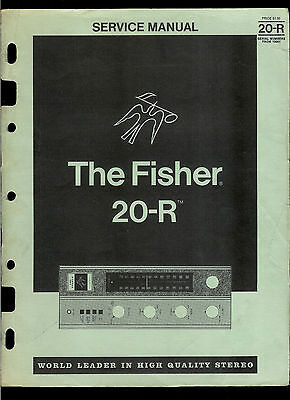 The Fisher 20-R AM FM Stereo Tuner Receiver Rare Factory Service Manual