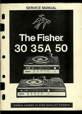 The Fisher 30 35A 50 AM FM Stereo Receiver Phono Cassette Factory Service Manual