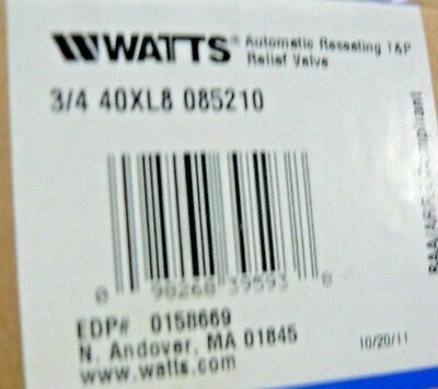 Watts Regulator 3/4 40Xl8 085210 85 Psi
