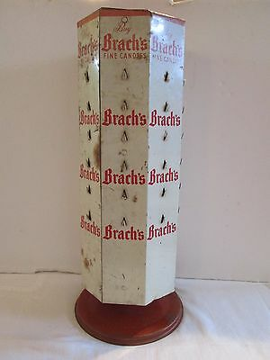 Vintage 1930's Brach's Fine Candies Advertising Store Display Rotating Rack Sign