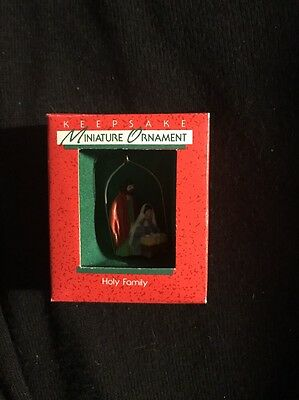 1988 Hallmark Miniature Ornament Holy Family