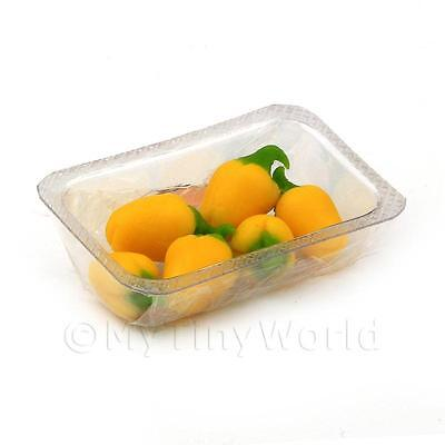 Dolls House Miniature punnet of Mixed Bell Peppers-food-accessories-1:12 scale