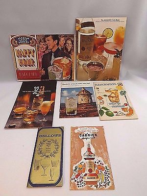 Vintage Liquor Drink Recipe Books Lot of 7 Alcohol Party Southern Comfort Etc