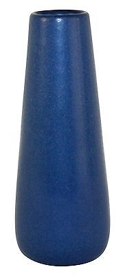 Marblehead Pottery Matte Blue Cylindrical Vase