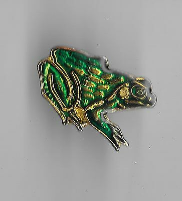 Vintage Green Frog old enamel pin