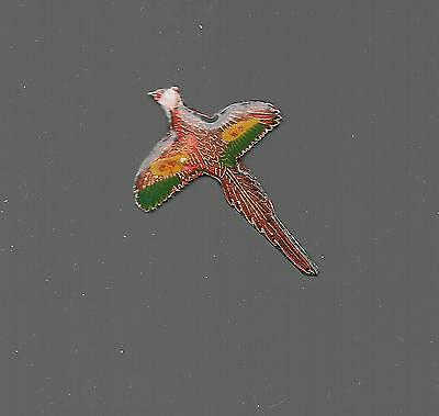 Vintage Colorful Flying Pheasant small b2 old enamel pin