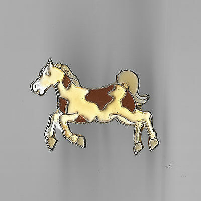 Vintage Pinto Horse up on Hind Legs old enamel pin