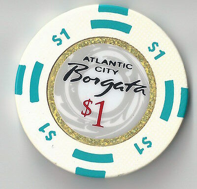 $1 Atlantic City 1St Edt Borgata Casino Chip Spa Resort Poker Collector Item