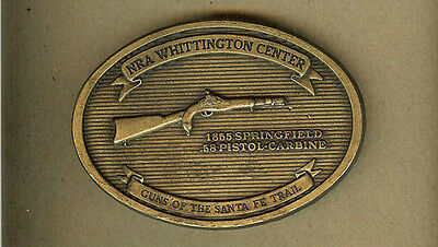 NRA Whittington Guns Santa Fe Trail,1855 Springfield Pistol Carbine BELT BUCKLE