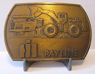 International IH Payline 400 Pay Loader & Dump Truck Construction Belt Buckle