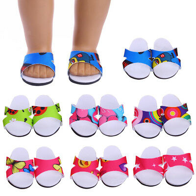 Shoes for 18 inch American Girl Our Generation Doll Clothes Slipper Sandals Accs