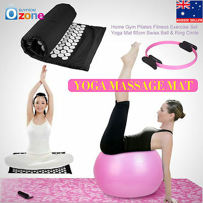 Home Gym Pilate Fitnes Exercise Massage Acupressure Mat Yoga Mat Swiss Ball Ring