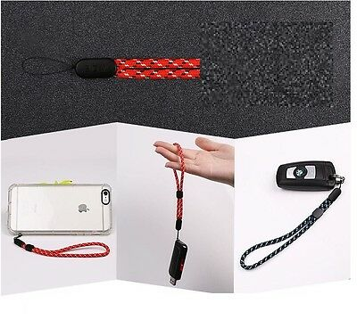 2x Black Wrist Strap Lanyard With Lock for Camera Mobile Phone iPod iPhone USB