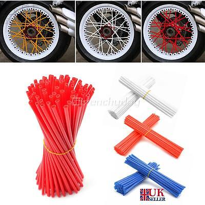 72x MOTOCROSS MX ENDURO WHEEL COVERS RIM SPOKE SHROUDS WRAPS SKINS COVER GUARDS