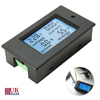 Digital LED AC 20A Volt Amp meter Watt Power Monitor Energy Ammeter Voltmeter