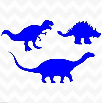 Dinosaur vinyl sticker pack set of 3 for wall door nursery playroom lunchbox