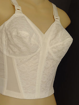 Vtg 50s/60s J.C. Penney White Cotton Lace Pointy/Torpedo Pin-Up LL Bra-34 B