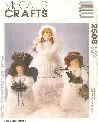 "McCall's Crafts 2508 Sewing Pattern 14"" Tall Chenille Angel Dolls UNCUT"