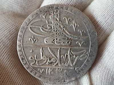 TOP QUALITY! EXCELLENT Ottoman silver coin 100 Para Sultan Selim III AD1789-31gr