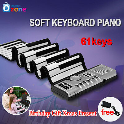 Roll-Up Flexible Full 61 Soft Keys Synthesizer Digita Electronic Piano Keyboard