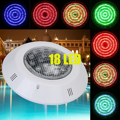 12V 18W Swimming Pool RGB- Bright Wall-Mounted Underwater LED Light - 7 Colours