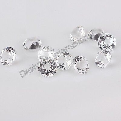 Natural Petalite Round Faceted Cut 2.5mm To 10mm White Color Calibreted Petalite