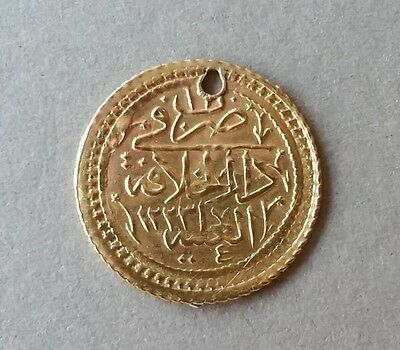 AUTHENTIC GOLD OTTOMAN Turkey COIN 1.57 grams Sultan Mahmud II AH1223- AD1808