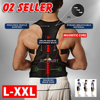 Magnetic Posture Corrector Belt for Lumbar Lower Back Support Shoulder Brace
