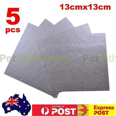 5x Microwave Oven Mica Plate Sheet Thick Replace Part 130 x 130mm
