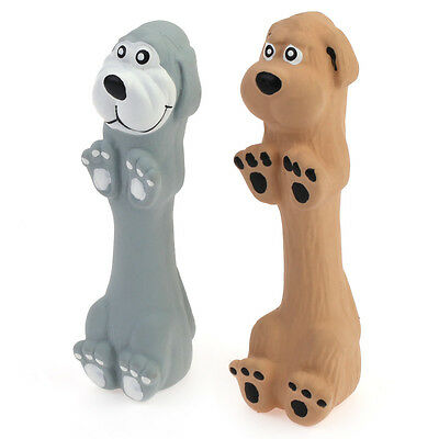 """WONPET 5.1"""" Standing Dog Squeaky Latex Dog Toy Puppy Chew Fetch Interactive Play"""