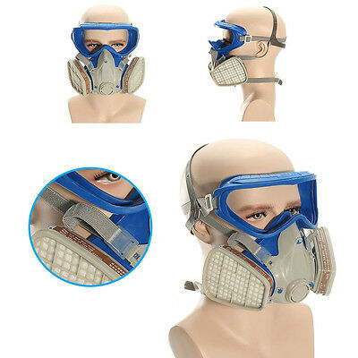 Full Face Gas Mask & Goggles Respirator Paint Chemical Mask Dustproof Gorgrous