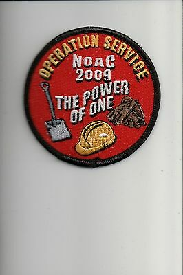 2009 National Order of the Arrow NOAC Operation Service patch