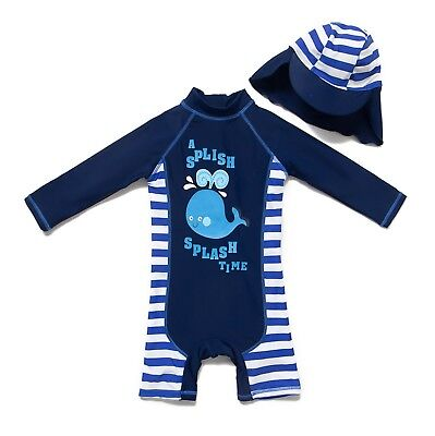 Baby Toddler Boy L/S Sun Protection Swim Suit UPF 50+ Protection by Bonverano TM