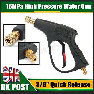 "High Pressure Washer Trigger Gun 3/8"" Quick Release Snow Foam Lance Spray Handle"