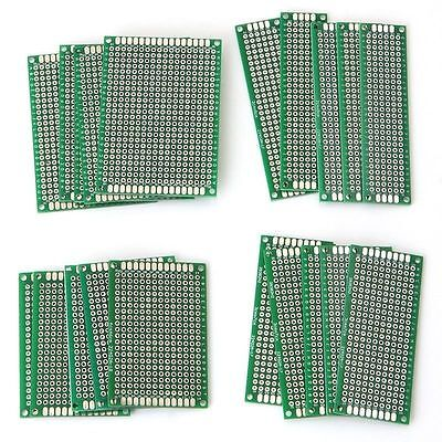 50x Double Side Prototype PCB Stripboard Universal Printed Solder Circuit Board
