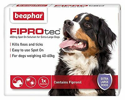 Beaphar Fiprotec Dog Spot on Flea & Tick Solution -1 Treatments XL Dogs