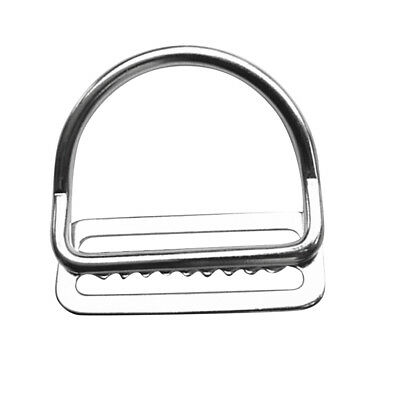 Scuba Dive 316 Stainless Steel Keeper Clip & Bent D Ring for 5cm Weight Belt