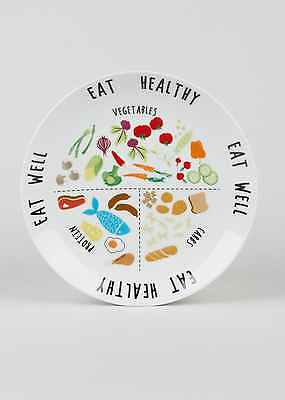 Healthy portion diet plate