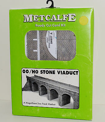 Metcalfe Ready Cut Card Kit - OO/HO Stone Viaduct (Two Track)