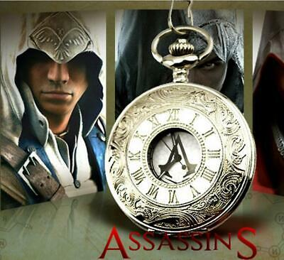 NEW Assassin's Creed Pocket Watches Vintage Quartz Watch in Box Gift cosplay