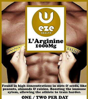 90 x L-ARGININE 1000MG CAPSULES MUSCLE GROWTH NITRIC OXIDE £3.99 BUY 2 GET 1 FRE